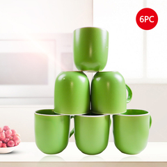 Sundabests 6pcs Ceramic 400ml Three Colors High Quality Tea Milk Coffee Ceramic Cups(130010058) green 6pcs