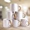 Sundabests 6pcs white Ceramic Affordable High Quality Tea Milk Coffee Ceramic Cups(130011090) white&brown 6pcs