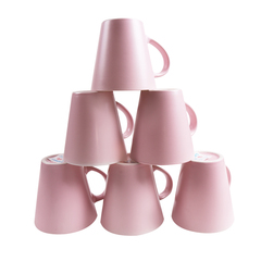 Sundabests 6pcs High Quality Tea Milk Coffee Ceramic Cups(130011675) pink 6pcs
