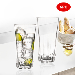 Sundabests 6pcs Glass 450ml Round High Quality Glass Glassware(130011500) transparent one size