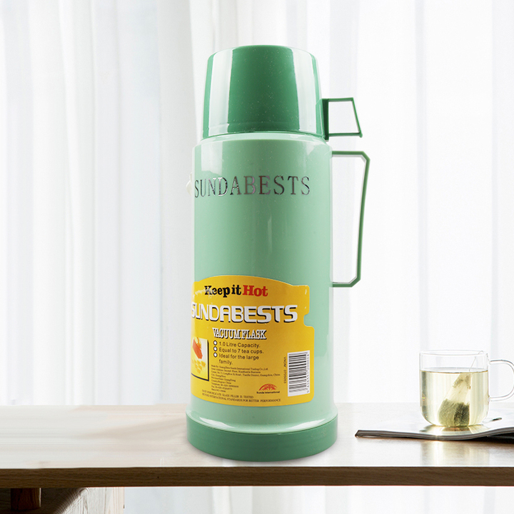 SUNDABESTS 1.0L New Vacuum Flask Thermoses Insulation pot(130008841) green 1.0l