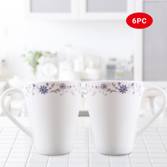 Sundabests 6pcs white Ceramic Affordable High Quality Tea Milk Coffee Ceramic Cups(130008885) as the picture one size