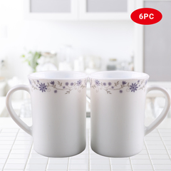 Sundabests 6pcs white Ceramic Affordable High Quality Tea Milk Coffee Ceramic Cups(130008889) as the picture one size