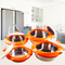 Sundabests 4pcs High Quality Hot Pot Serving Bowls Stainless Steel Inner(130008040) orange 4 pcs