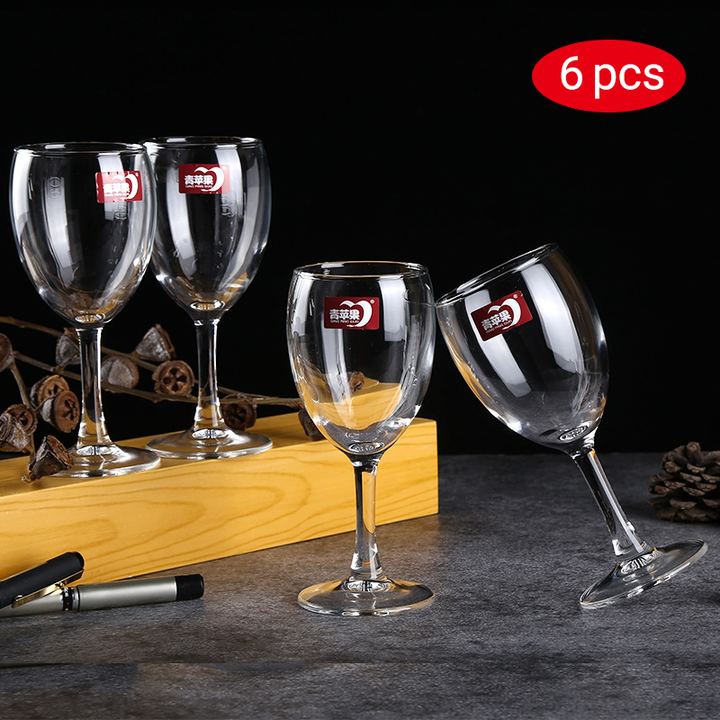 Sundabests 6pcs High Quality Red Wine Glass(130007487) as the picture 6pcs