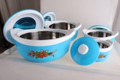 SUNDABESTS 4Pcs Insulated Casserole Hot Pot Serving Dishes (130005543) blue 0.5l, 1l, 1.8l, 2.8l