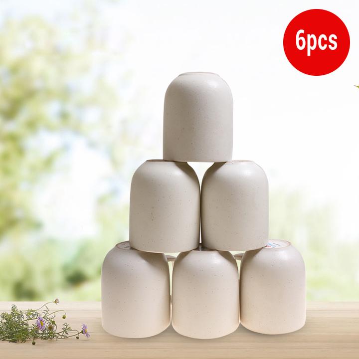 Sundabests 6pcs High Quality Tea Milk Coffee Ceramic Cups(130012387) white one size