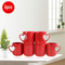 Sundabests 6pcs High Quality Tea Milk Coffee Ceramic Mug Cups(130012452,130012456) red one size