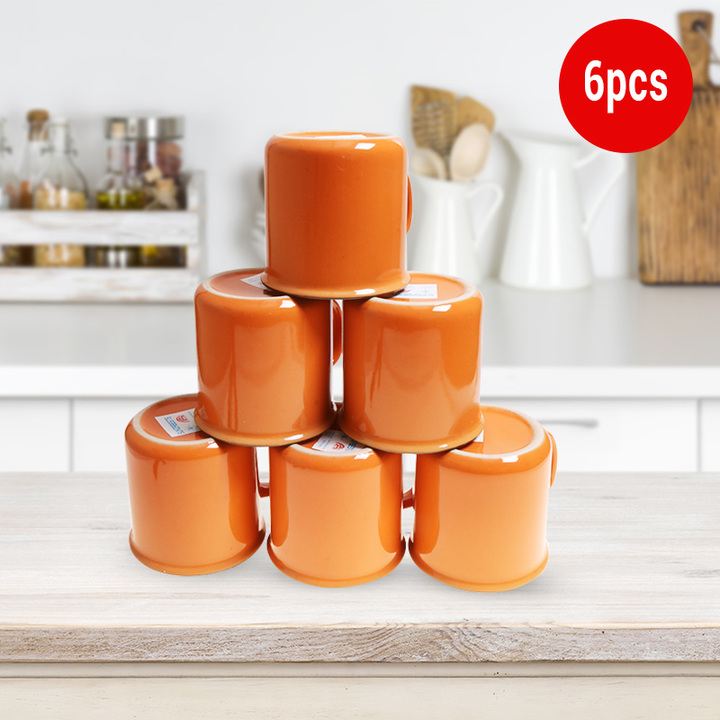Sundabests 6pcs High Quality Tea Milk Coffee Ceramic Mug Cups(130012409) orange one size
