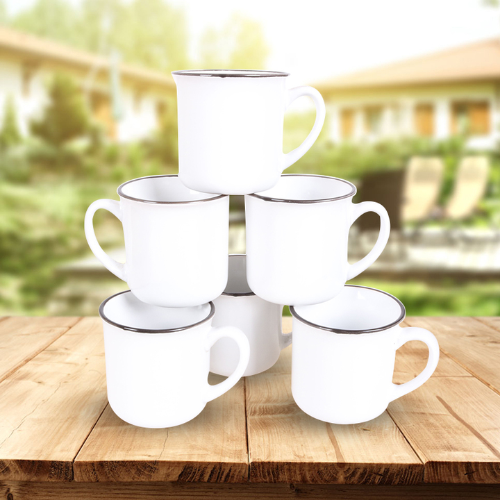 Sundabests 6pcs High Quality Tea Milk Coffee Ceramic Mug Cups(130012409) white&brown one size