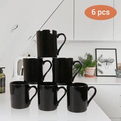 Sundabests 6pcs High Quality Tea Milk Coffee Ceramic Cups(130012260) black one size