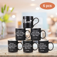 Sundabests 6pcs High Quality Tea Milk Coffee Ceramic Cups(130012568) black one size