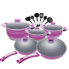 Sundabests (3 pots,2 frying pan and 6 cooking utensils) High Quality Cookware Set(130008624) as the picture 16pcs