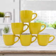 Sundabests 6pcs High Quality Tea Milk Coffee Ceramic Cups(1300013133) yellow 6pcs