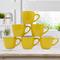 Sundabests 6pcs High Quality Tea Milk Coffee Ceramic Cups(1300013133) yellow 6pcs