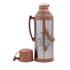 Sundabests High Quality 2.0L New Vacuum Flask Thermoses Insulation Pot(130011206) brown 2.0l