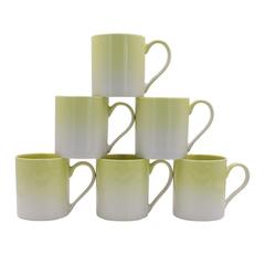 Sundabests 6pcs High Quality Tea Milk Coffee Ceramic Cups(130012660) yellow 6pcs