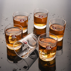Sundabests 6pcs High Quality Spiral Glass Glassware Cup(130014730) transparent 6pcs