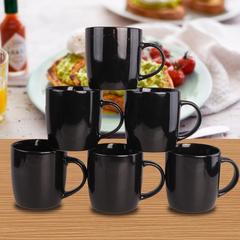 Sundabests 6pcs High Quality Tea Milk Coffee Ceramic Cups(130012381) black 6pcs