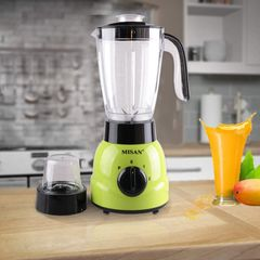 MISAN Electric 1.5L 2 In 1 Blender with One Year Warranty(190000952) Green