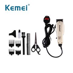 Kemei Electric Hair Clipper Mini Hair Trimmer Cutting Machine Beard Barber Razor For Men Style white one size