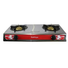 Sathiya High Quality Exquisite Kitchen Wares Double Burner Gas Stove(130013140) silver one size