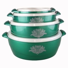 Sundabests 4pcs High Quality Hot Pot Serving Bowls Stainless Steel Inner(130013798) green 4 pcs