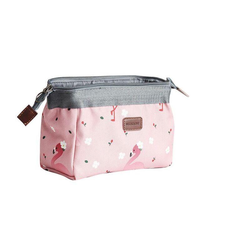 Korea Fashion Ladies Cosmetic Bag Multifunction Makeup Bags Potable Clutch pink 18*13*9cm