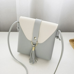 New Promotion Ladies Fashion Tassel Shoulder Bag Womens Elegant Party Bags Students Bag Phone Bag grey 16*18*4cm