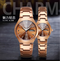 WLISTH Couple Watches  2Pcs/Set New Style Men's And Women's Watches Waterproof Quartz Watch coffee gold 2pic(1 male+1 famale)