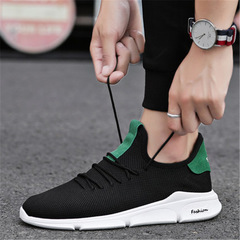 New 2018 Spring Summer Mesh Shoes Men Sneakers  Shoes Male Brand Fashion Sneakers Black green 39