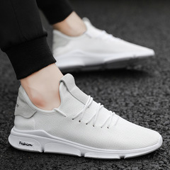 Hot sales Spring Summer Mesh Shoes Mens Sneakers  Shoes Male Brand Fashion sneakers white 39