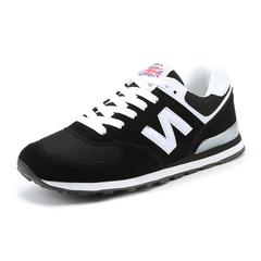 Breathable sneakers men casual shoes men flat shoes lacing lovers shoes black 39