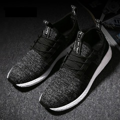 Mesh breathable sports casual shoes running shoes sneakers  slippers Black 39