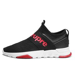 Sneakers Men breathable Slip-on Comfort Soft Flats Walking Footwear Height Increasing Shoes black 39