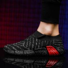 New Spring Autumn Sneakers Men Lace Up Breathable Casual Men Height Increasing  Shoes black 36