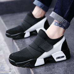 Casual Shoe Air Breathable Casual FashionTenisky Flats Height Increasing shoes men black 36
