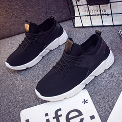 Christmas sales Men sports shoes summer men running shoes comfortable casual shoes for lovers black 39
