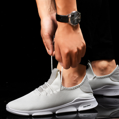 Christmas sales Lovers shoes sports single shoes fashion breathable men shoes casual shoes white 36