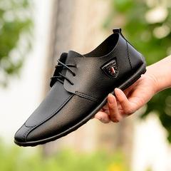 Christmas sales Doug shoes men foreign trade single shoes pu leather belt fashion casual shoes black 39