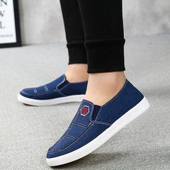 Christmas sales 2018 Men shoes autumn new casual cloth shoes lazy canvas shoes men single shoes blue 39