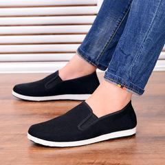 Christmas sales Classic cloth shoes men square bottom comfortable driver shoes breathable shoes black 39