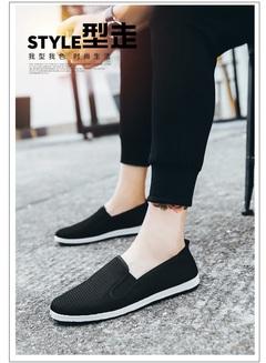 Christmas sales Army single shoes vogue tide net shoe men summer breathable male shoe old Beijing all black 39