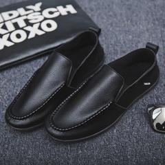 Christmas sales 2018 Men fashion lazy shoes men casual shoes comfortable breathable driving shoes black 39
