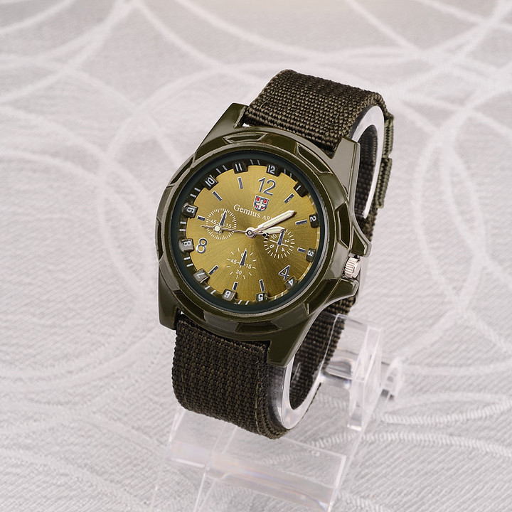 Men Nylon band Military watch Gemius Army watch High Quality  Movement Men sports watch green one size