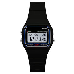Multifunctional electronic watches for boys girls Men kids Watches Date Digital Wrist Watch black one size