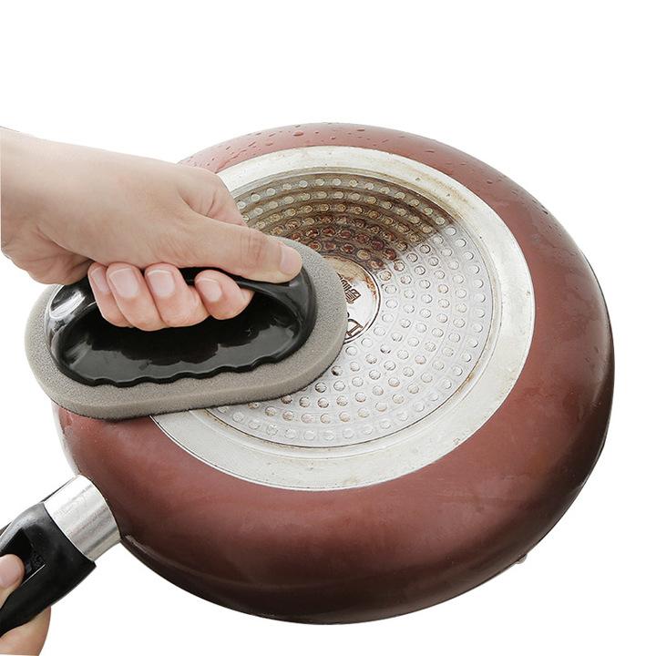 Strong Decontamination Bath Brush Sponge Tiles Brush Magic Kitchen Clean Tools Knife Sharpener black one size