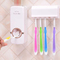 Bathroom Accessories Set Tooth Brush Holder Automatic Toothpaste Dispenser Holder Toothbrush Wall white one size