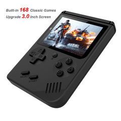 Video Game Console  Mini Pocket Handheld Game Player Built-in 168 Classic Games Best Gift for Child black one size