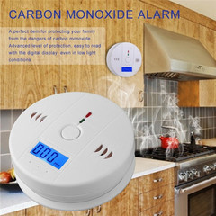 CO Gas Sensor Detector Carbon Monoxide Poisoning Alarm Detector LCD Warning High Sensitive white one size
